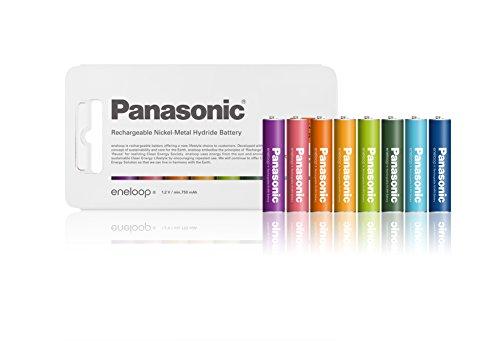 Panasonic Eneloop Tones 2100 Cycle AAA Rechargeable Batteries 750 mAh Pack of 8