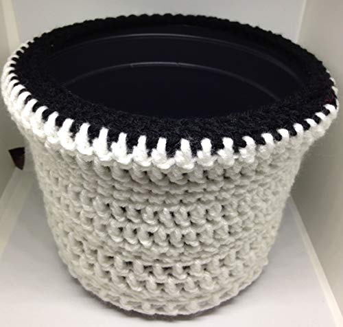 - Flower Pot Cover herbs fertilizer gardens plants seeds crochet handmade