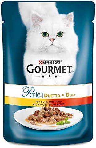 PURINA GOURMET Perle Duetto Katzenfutter nass, verschiedene Sorten, 24er Pack (24 x85g)