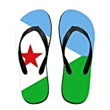 Flag Of Djibouti Cool Flip Flops For Children Adults Men And Women Beach Sandals Pool Party Slippers