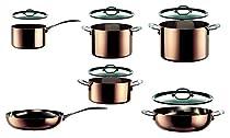 Mepra 30120011 1 Piece Toscana Kitchen Set, Copper