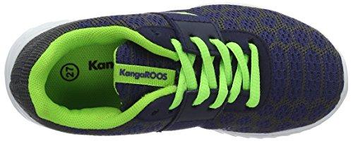 KangaROOS Kaboo 6000 - Zapatilla Baja Unisex Niños Blau (Dk Navy/Lime)