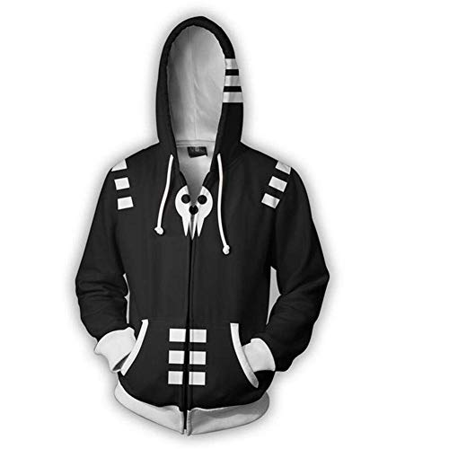 Mikucos Soul Eater Coat Hooded Hoodie Sweater Costume Cosplay Jacket Death The Kid 3XL]()