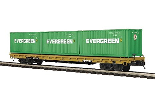 TTX 60' FLAT W/20' CONTAINERS