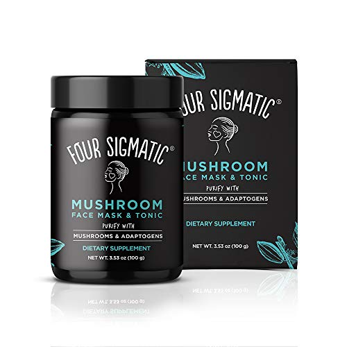 Four Sigmatic Mushroom Face Mask & Tonic - Edible Dual-Purpose Charcoal Face Mask + Superfood Tonic, Vegan, Cruelty-free, Pore Purifying - -