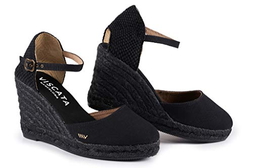VISCATA Barcelona Satuna - Black Jute - Wedge Espadrilles Shoe Jute