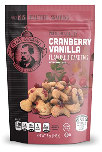 Cranberry Vanilla Flavored Cashews with Carrot Bits, Gluten Free - 7 oz
