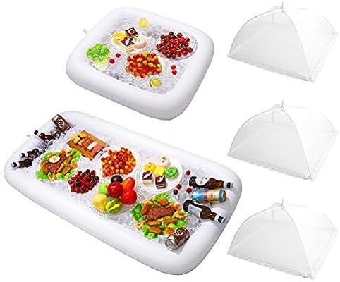 HEMOTON - Bandeja hinchable para bebidas, frutas, helados ...