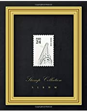 Stamp Collection Album: Stamp album for collectors, kids and adults, large Vintage stamp album stockbook - Cream paper