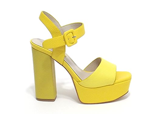 Barachini - Sandalias de vestir para mujer amarillo amarillo
