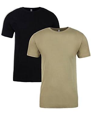 N6210 T-Shirt, Black + Light Olive (2 Pack), Large