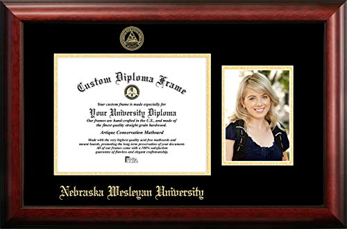 - Campus Images Nebraska Wesleyan University 11w x 8.5h Gold Embossed Diploma Frame with 5 x7 Portrait