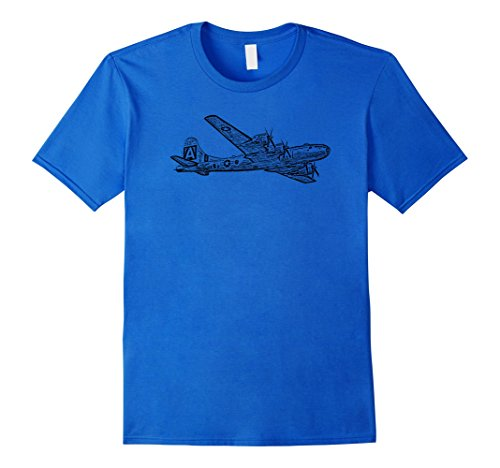 Mens B-29 Bomber Airplane Fighter Plane Graphic T-shirt X...