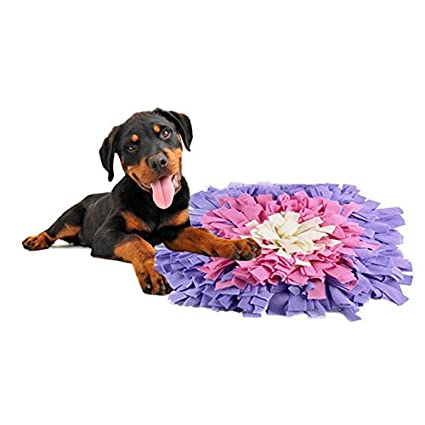 """furrybaby Snuffle Mat Slow Feeding Mat Promote Better Digestion, Nosework Blanket Encourages Natural Foraging Skills, Interactive Dog Training Mat(17""""x17"""")"""