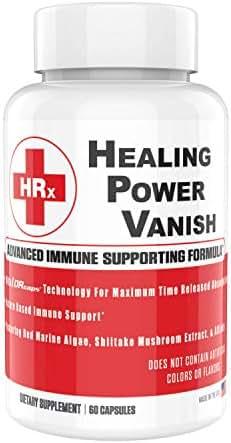 Healing Power Vanish HPV Immune Support Supplements 1450mg - Premium Shiitake Mushroom Capsules - Pure Shiitake Mushroom Extract & Red Marine Algae Supplements - Immune System Booster - 60 Capsules