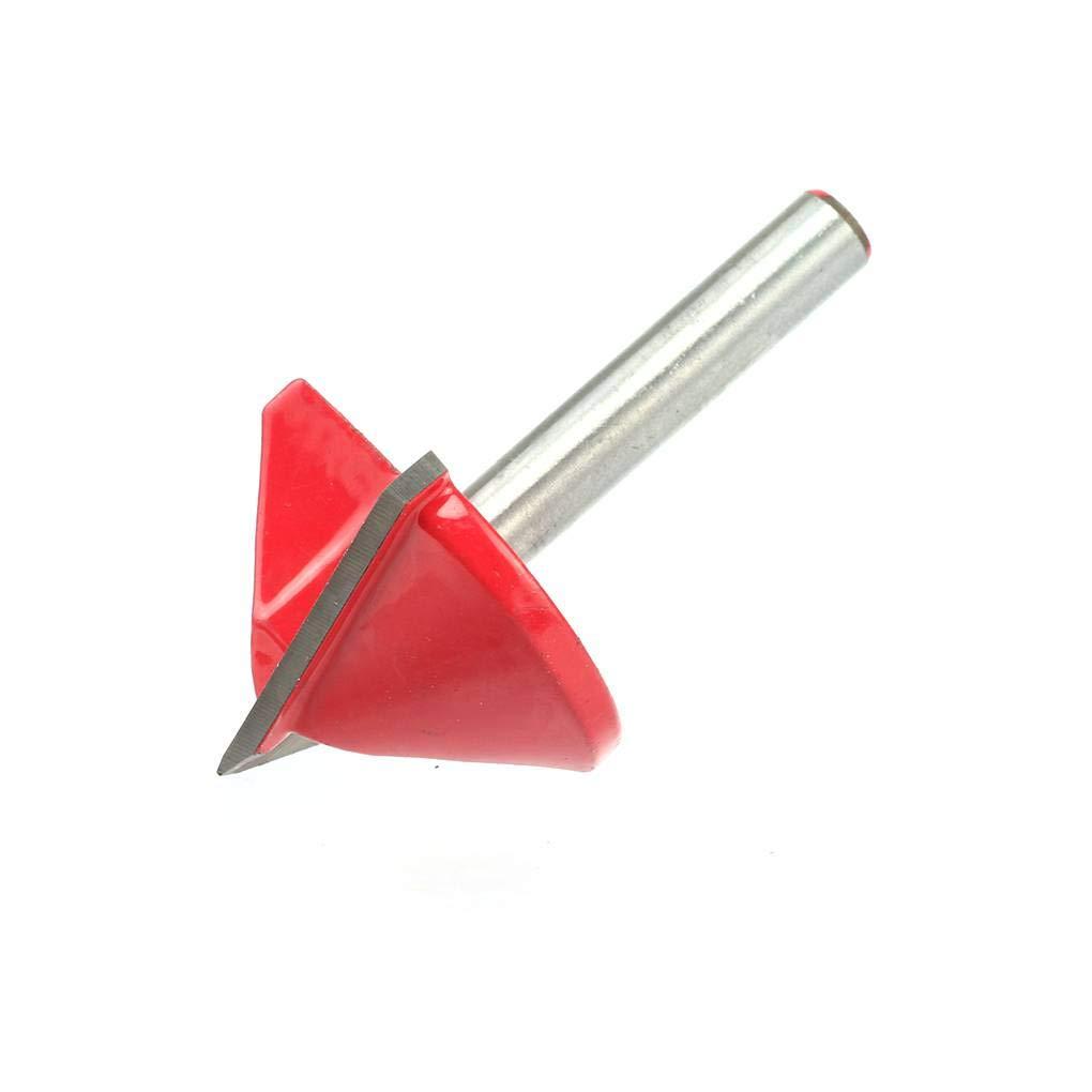 Lorsoul 6mm 90//120//150 Grados V bit bit s/ólido Acero de tungsteno Molino 3D Fresa del Router de Madera para carpinter/ía