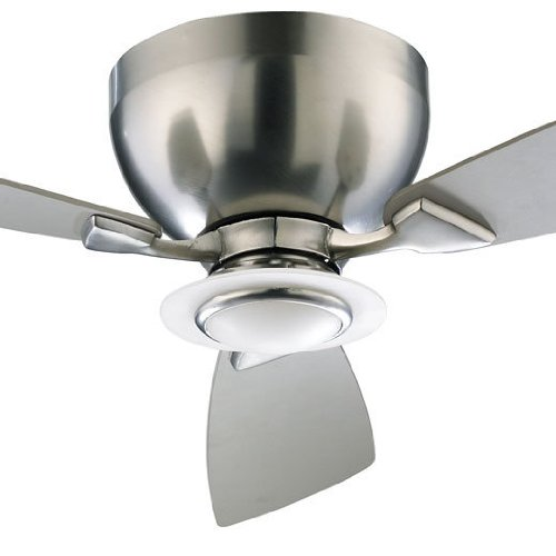 Quorum 70443-65, Nikko Satin Nickel Flush Mount 44