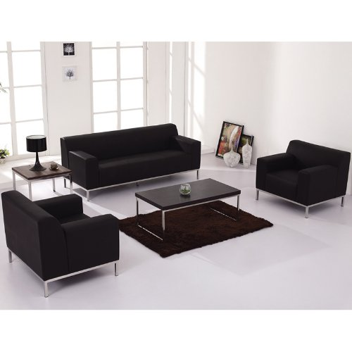 Amazon.com: UTMOST FURNITURE 3pc Modern Leather Office Reception ...