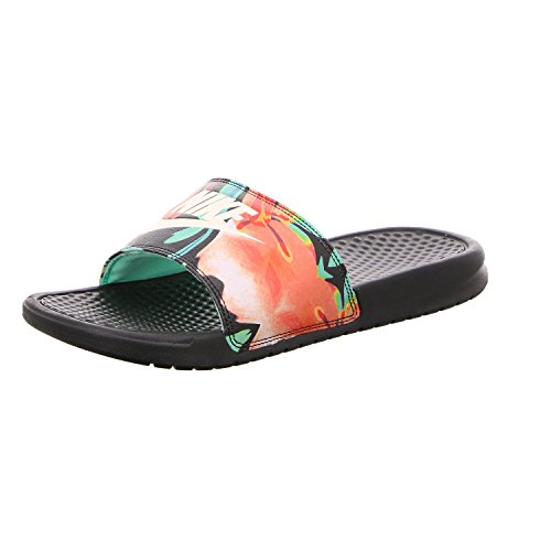 78d8a21b8 Galleon - NIKE Womens Benassi JDI Print Sandals Black Crimson Tint Green  Glow 618919-019 (5 B(M) US)