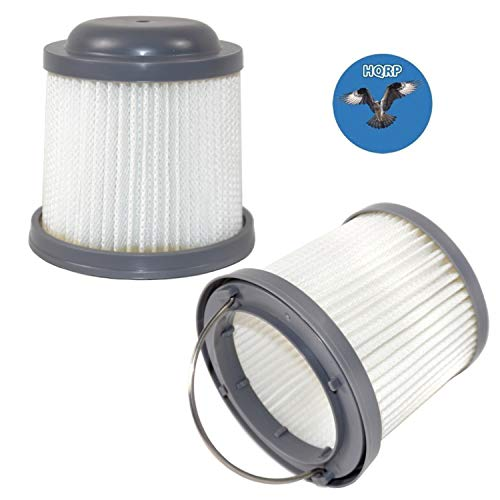 HQRP 2-Pack Washable Filter for Black & Decker BDH2000PL, BDH1600PL, BDH2020FLFH, BDH1620FLFH, BDH2020FLFH Flex Lithium Pivot Vac Vacuums Coaster ()