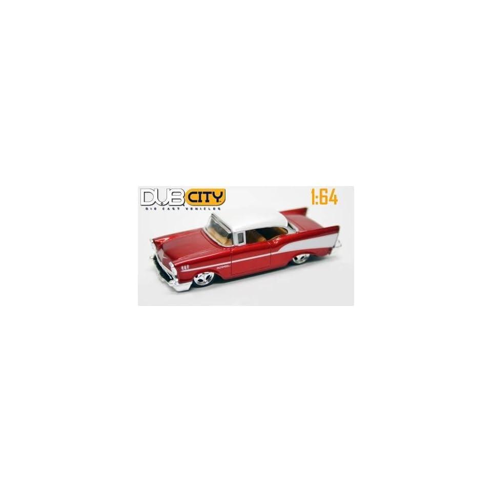 Jada Dub City Metallic Red 1957 Chevy Bel Air 164 Scale Die Cast Car