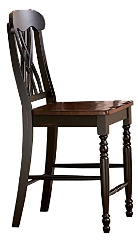 Homelegance Ohana Two-Pack Counter Height Chairs, Black