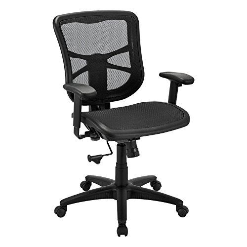 Alera ALEEL42B18 Elusion Series Air Mesh Mid-Back Swivel/Tilt Chair, Black Alera Office Arm Chair