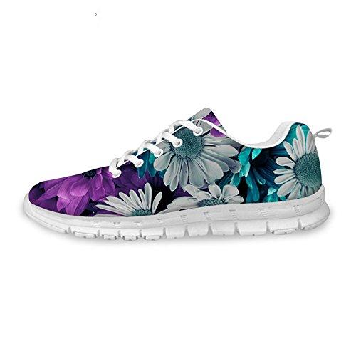 Kramar Idé Blommor Kvinna Mode Sneakers Lätta Löparskor Blom 11