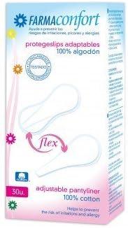 Farmaconfort Protege-Slip Adaptables algodón Flex 30 unds: Amazon.es: Salud y cuidado personal