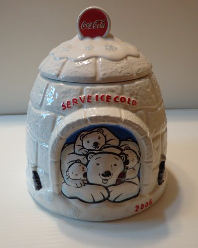 Coke Cookie Jar (COCA-COLA IGLOO COOKIE JAR)