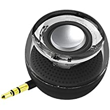 Wireless Speakers, Leadsound Crystal Portable mini Speaker with 3.5mm Aux Audio Jack Plug in Clear Bass Micro USB Port Audio Dock for Smart Phone, for iPad, computer (Black)