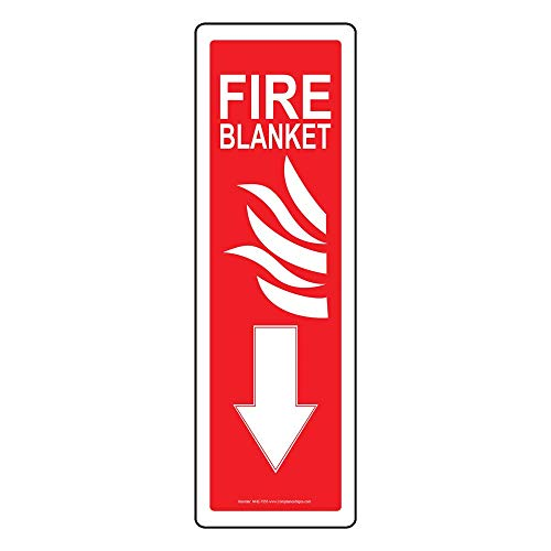 Fire Blanket Sign, 14x4 in. Aluminum for Fire Safety/Equipment by ComplianceSigns