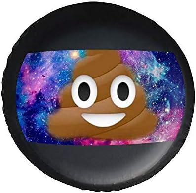 おもしろウンコ Galaxy Poo タイヤカバー タイヤ保管カバー 収納 防水 雨よけカバー 普通車・ミニバン用 防塵 保管 保存 日焼け止め 径83cm