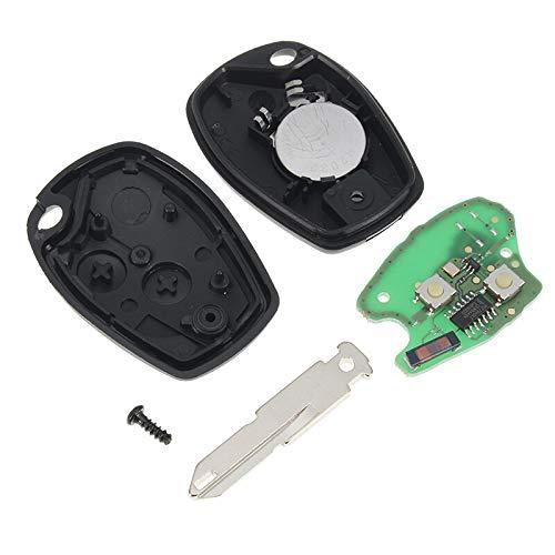 Price comparison product image Iris-Shop - 2 Button Remote Car Key 433Mhz For Renault Kangoo 2003-2008 Megane Modus Clio Logan Sandero Duster With PCF7946 Chip
