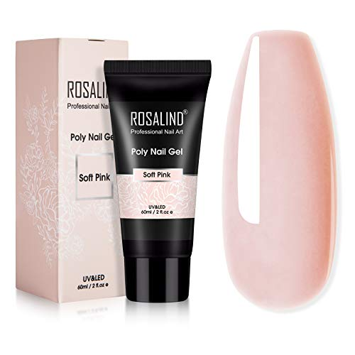 ROSALIND 60ml Poly Extension gel, Poly Nail gel of Nail Art decoration Acrylic Extension, Poly Extension gel easy to DIY use at home