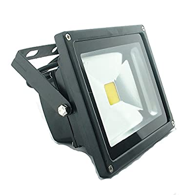 QUANS 20W 12V 24V AC DC Ultra Bright White LED Security Wash Flood light Floodlight Lamp High Power Black Case Waterproof IP65 Work in the Rain Superbright