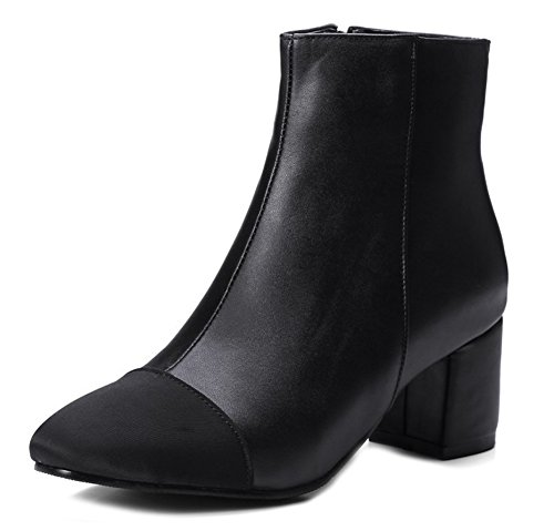 Femme Noir Elégant Aisun Bottines Toe Cap Courte Tige 4wxZqdC