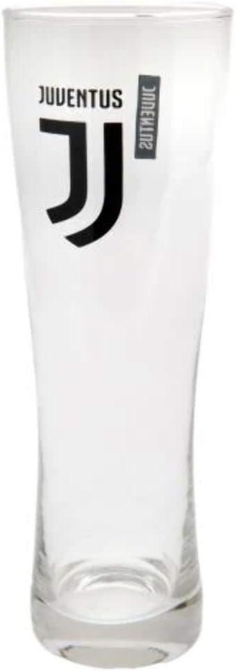 Juventus Fc Football Club Soccer Sports Team Wordmark Crest Pint Glass