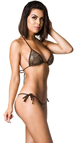THE MESH KING Coqueta Swimwear Brazilian Mini Bikini Two Piece Sexy Swimsuit Tie Side Raptor-MD -