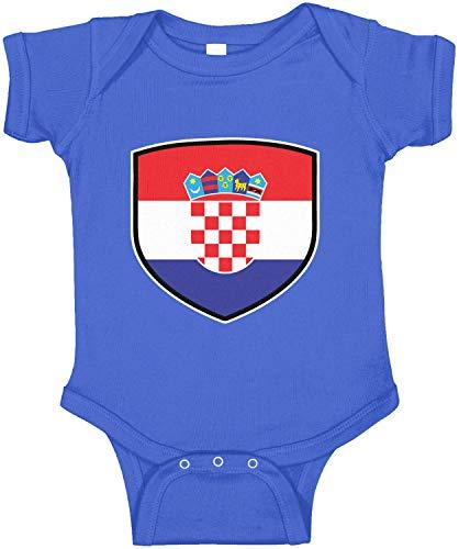(Amdesco Croatia Shield Croatian Flag Infant Bodysuit, Royal Blue 6 Month)