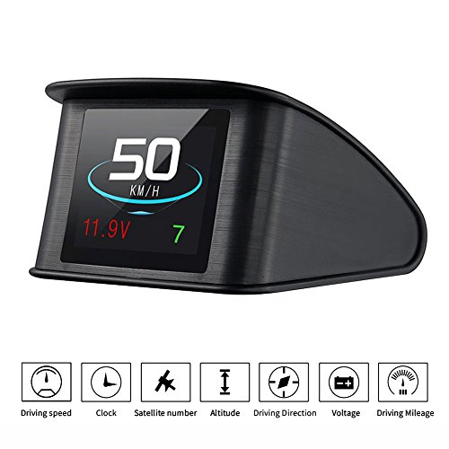 TIMPROVE T600 Universal Car HUD Head Up Display Digital GPS Speedometer with Speedup Test Brake Test Overspeed Alarm TFT LCD Display for All - Manual Mustang Screen