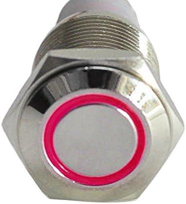 Mintice trade; Auto nero caso 12V 16mm simbolo luce verde LED energia cerchio metallo premi il bottone interruttore a levetta presa di corrente