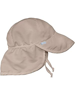 Solid Flap Sun Protection Hat (infant, aqua) (Khaki, 6-18 Months)