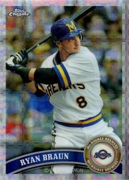 2011 Topps Chrome Xfractor 54 Ryan Braun Baseball Card At