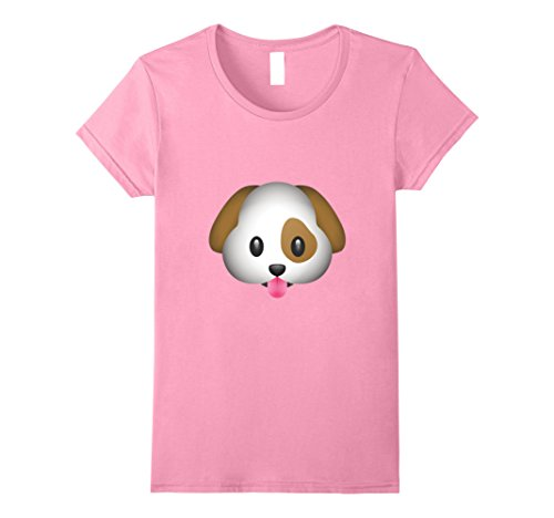 Tongue Ladies T-shirt - Womens Emoji T Shirt Dog Puppy Tongue Lick Cute Adorable Bark Out XL Pink