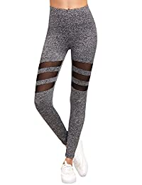 SweatyRocks Women's Tights Long Workout Legging Yoga Pant