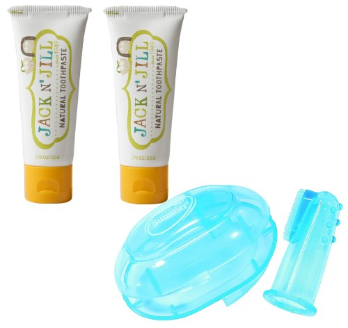 Jack N' Jill Natural Toothpaste 1.76oz 2-Pack PLUS Finger To