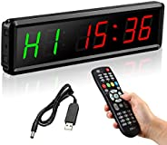 Seesii LED Interval Timer,Fitness Training Gym Timer with Remote Control,Countdown Timer Gym Home Workout Gara