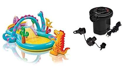 Amazon.com: Dinoland Centro de juegos hinchable, 31 pulgadas ...
