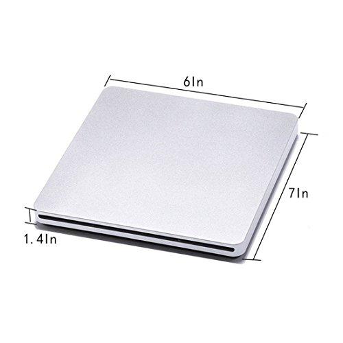 External CD DVD Drive Sunreal Ultra Slim Portable USB 2.0 CD+/-RW DVD +/-RW Burner Writer Player for Apple Mac Macbook Pro/Air iMac Laptop by Sunreal (Image #4)